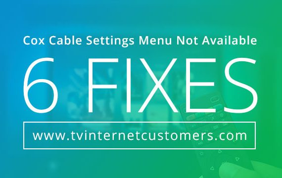 Cox Cable Settings Menu Not Available